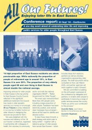 Conference report:20 Sept - East Sussex County Council