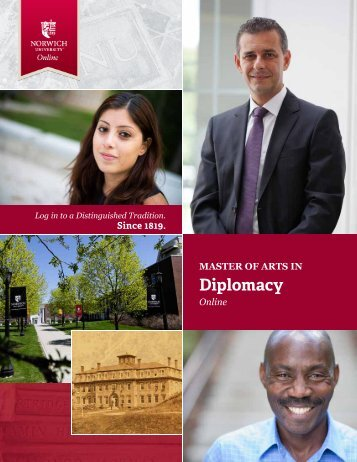 to download the brochure - Norwich University's Master of Arts in ...