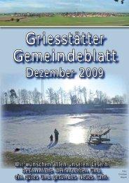 Gemeindeblatt Dezember 2009 - Teil 1 - Griesstätt