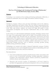 Technology in Mathematics Education The Use of Technology in the ...