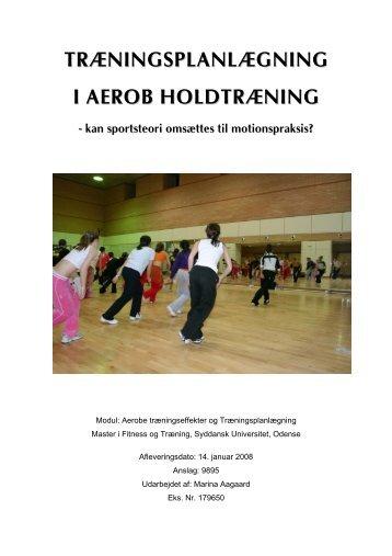 træningsplanlægning i aerob holdtræning - Marina Aagaard