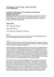 Protokoll AG 5 - Kultur im Dialog