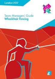 London 2012 Team Managers' Guide Wheelchair Fencing