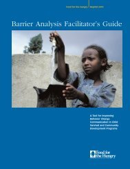 Barrier Analysis Facilitator's Guide - CORE Group