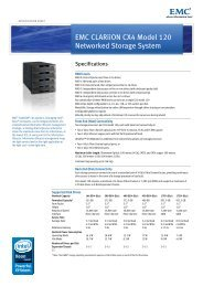 EMC CLARiiON CX4 Model 120 Networked Storage System - Spectra