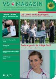 VS Magazin Ausgabe 1 2013 - VS Bürgerhilfe gemeinnützige GmbH
