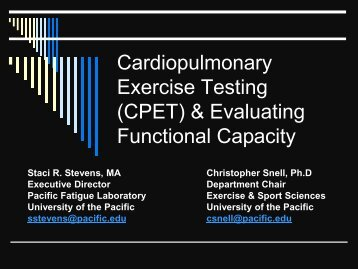 Functional Capacity Testing - U.S. Department of Health and Human ...