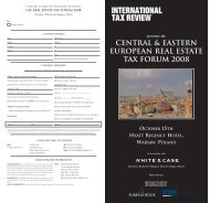 Central & Eastern European Real Estate Tax Forum - International ...
