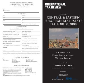 Central & Eastern European Real Estate Tax Forum - International ...