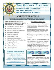 CM/ECF VERSION 3.0 - Northern District of Oklahoma