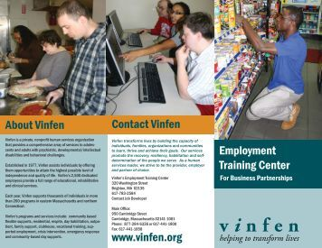 Employment Training Center for Employees - Vinfen