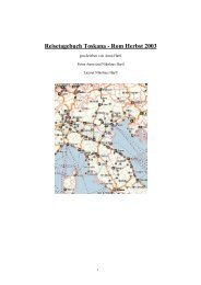 Reisetagebuch Toskana - Rom Herbst 2003 - myDARC.de