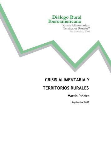 CRISIS ALIMENTARIA Y TERRITORIOS RURALES - Rimisp