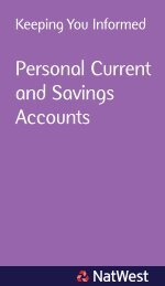 Personal Current and Savings Accounts - NatWest