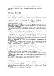 regimento interno do conselho de acompanhamento e controle