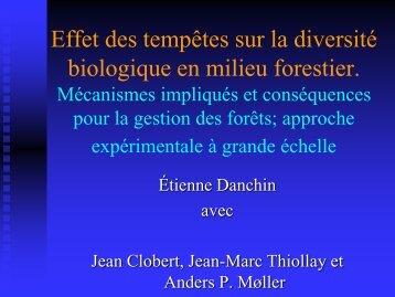 Effet des tempêtes sur la diversité biologique en milieu ... - GIP-Ecofor