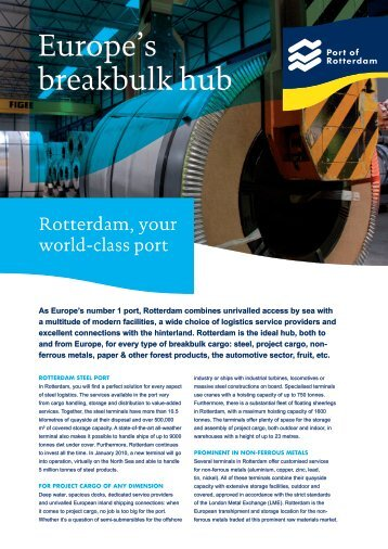 Download - Port of Rotterdam