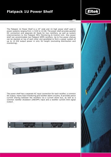 Flatpack 1U Power Shelf