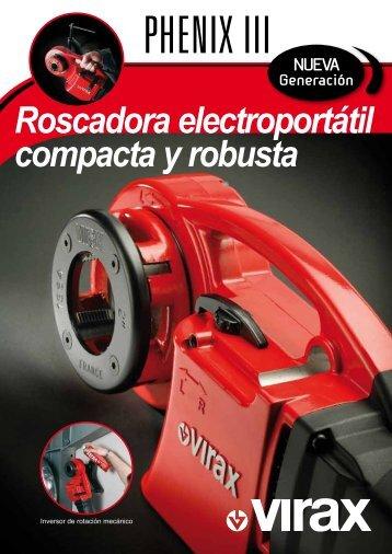Roscadora electroportátil compacta y robusta