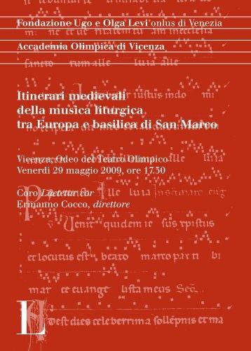 Itinerari medievali della musica liturgica tra Europa e basilica di San ...