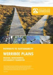 Werribee Plains Pathways to Sustainability Report - Australian ...