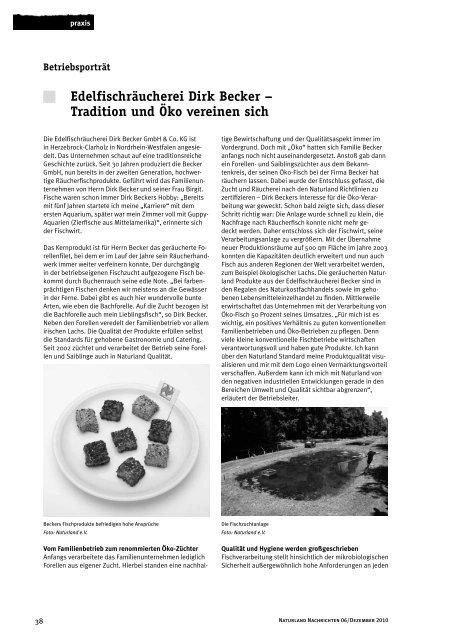Edelfischräucherei Dirk Becker – Tradition und Öko ... - Naturland