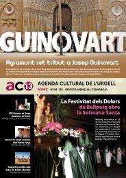 Agramunt ret tribut a Josep Guinovart - Ajuntament de Tàrrega