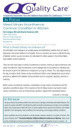 IN FOCUS Mixed Urinary Incontinence - National Association for ...