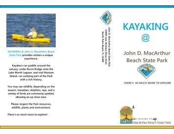KAYAKING - John D. MacArthur Beach State Park