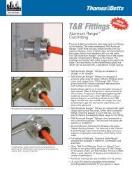 T&B Aluminum Ranger Cord Fitting