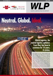 Neutral. Global. Ideal. - e.wurth-logistics.com - Würth Logistics