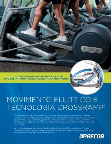 MOVIMENTO ELLITTICO E TECNOLOGIA CROSSRAMP® - Precor