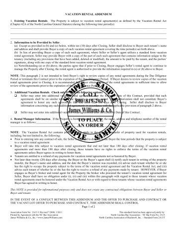 Vacation Rental Agreement #2 A 13   James Williams U0026 Co.,