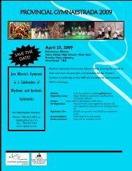 Provincial Gymnaestrada 2009.pdf - Rhythmic Gymnastics Alberta