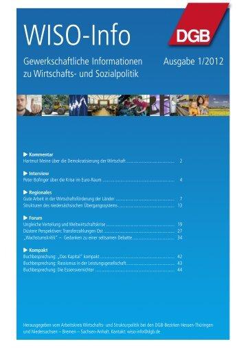 WISO-Info 2012-01.pmd - DGB Niedersachsen