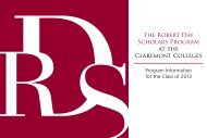 the Robert Day Scholars Program at the Claremont Colleges