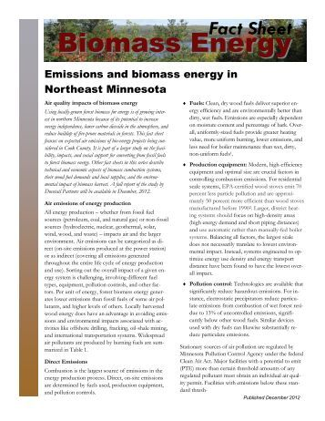 Emissions and biomass energy - Heating the Midwest