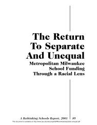 The Return to Separate and Unequal - National Education Policy ...