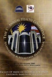 1st Annual Health Conference 2009.pdf - USIM - Universiti Sains ...