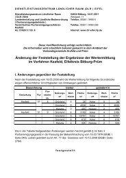 Änderung der Feststellung der Ergebnisse der ... - DLR Eifel