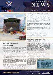 2nd Quarter 2008 - Newsletter Edition 2 - Strategic Marine