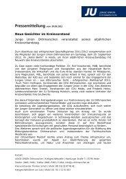 Pressemitteilung vom - ju kreisverband dithmarschen