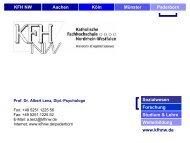 KFH NW Aachen Köln Münster Paderborn Sozialwesen ... - ism