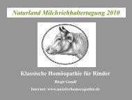 Klassische Homöopathie für Rinder - Naturland