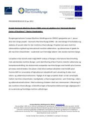 Press release 12th of January 2012 - The Danish Maritime Cluster