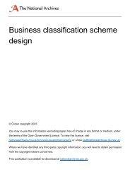 Business classification scheme design - The National Archives
