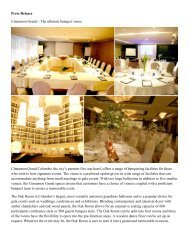 Press Release Cinnamon Grand - Cinnamon Hotels & Resorts