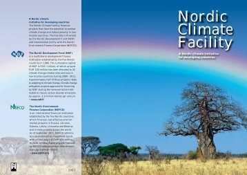 NCF Brochure - Nordic Development Fund