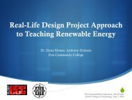 Real-Life Design Project Approach to Teaching Renewable Energy