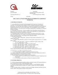 2013. gada Latvijas kartinga čempionāta nolikums